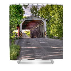 Shower Curtain featuring the photograph Covered Bridge by Jim Thompson