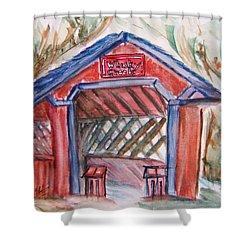 Covered Bridge Loretto Kentucky Shower Curtain by Elaine Duras