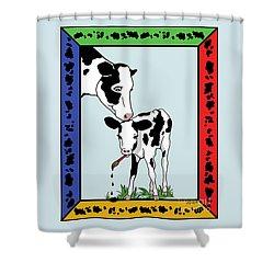 Cow Artist Cow Art II Shower Curtain by Audra D Lemke