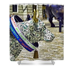 Cow Parade N Y C  2000 - Live Stock Cow Shower Curtain