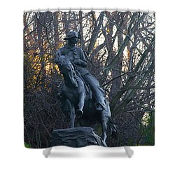Cowboy 1908 By Frederic Remington Shower Curtain by Bill Cannon