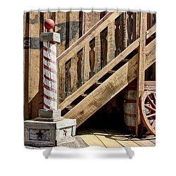 Cowboy Barbershop Shower Curtain