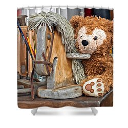 Shower Curtain featuring the photograph Cowboy Bear by Thomas Woolworth