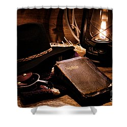 Cowboy Bible Shower Curtain