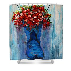 Cowboy Boot Unusual Pot Series  Shower Curtain