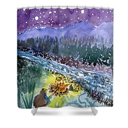 Cowboy Campout Shower Curtain