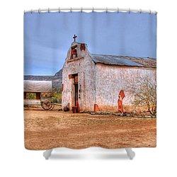 Cowboy Church Shower Curtain