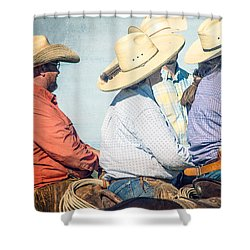 Shower Curtain featuring the photograph Cowboy Colors by Steven Bateson