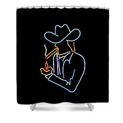 Cowboy In Neon Shower Curtain