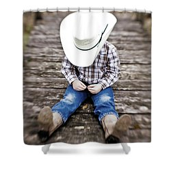 Cowboy Shower Curtain by Scott Pellegrin