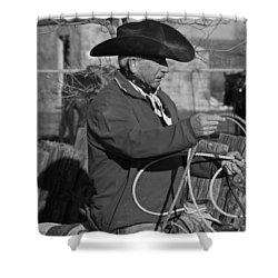Cowboy Signature 14 Shower Curtain by Diane Bohna