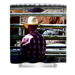 Shower Curtain featuring the photograph Cowboys Corral by Susan Garren