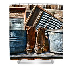 Cowboys Have Laundry Too Shower Curtain by Paul Ward