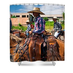 Cowboys In Brazil Shower Curtain