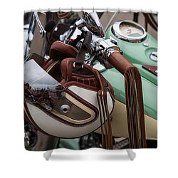 Cowboys Of The 21st Century - Featured 3 Shower Curtain by Alexander Senin