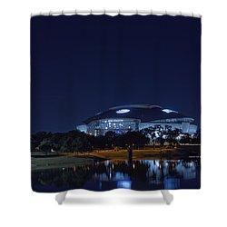 Cowboys Stadium Game Night 1 Shower Curtain