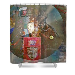 Cowgirl Cadillac Shower Curtain