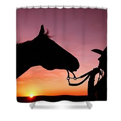 Cowgirl Sunset Shower Curtain