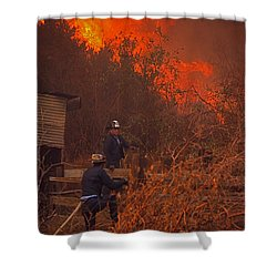 Coyote Fire - 1969 Shower Curtain