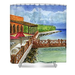 Cozumel Mexico Little Pier Shower Curtain