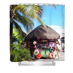 Cozumel Souvernir Shopping Shower Curtain by Debra Martz