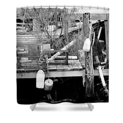 Crab Fishermans Still Life Shower Curtain