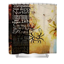 Crab Of The Star Cancer Shower Curtain by Corporate Art Task Force