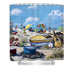 Crab Pickin Shower Curtain