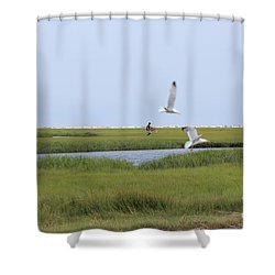 Crabber Shower Curtain