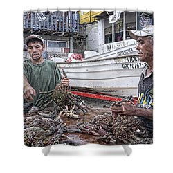 Crabbers At Popotla Shower Curtain