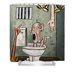 Crack Head Shower Curtain by Anthony Falbo
