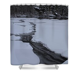 Cracked Ice  Shower Curtain by Duncan Selby