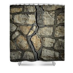 Cracked Wall Shower Curtain by Les Cunliffe