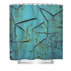 Crackled Rust Shower Curtain by Ramona Johnston