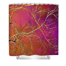 Crackling Branches Shower Curtain by Meghan at FireBonnet Art