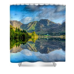Craf Nant Lake Shower Curtain by Adrian Evans