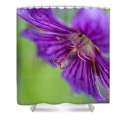 Cranesbill - By Sabine Edrissi Shower Curtain