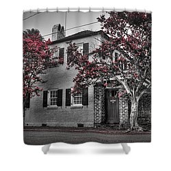 Crape Myrtles In Historic Downtown Charleston 1 Shower Curtain