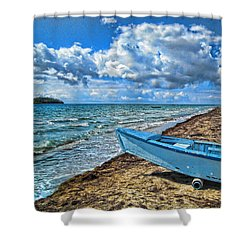 Crash Boat Shower Curtain