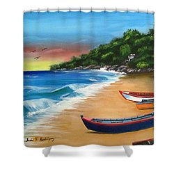 Crashboat Beach Wonder Shower Curtain