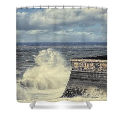 Crashing Waves Shower Curtain by Amanda Elwell