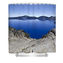 Shower Curtain featuring the photograph Crater Lake by David Millenheft