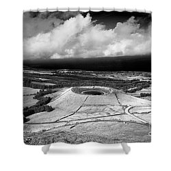 Crater Lake In Azores Shower Curtain by Gaspar Avila