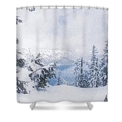 Crater Lake National Park In June Shower Curtain