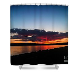 Crater Lake Yellowstone National Park Montana Shower Curtain by Thomas Woolworth