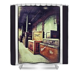 Crates And Crates Shower Curtain by Gerry Robins