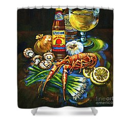 Crawfish Fixin's Shower Curtain by Dianne Parks