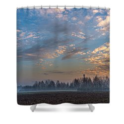 Crawling Mist Shower Curtain
