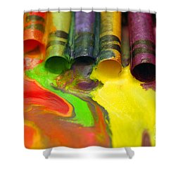Crayon Cooperation Shower Curtain