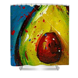 Crazy Avocado 4 - Modern Art Shower Curtain